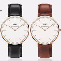 ebay - 2015 Christmas DW watch luxury Daniel Wellington PU leather watchband students couples unisex wrist watches couples gifts hot on ebay best