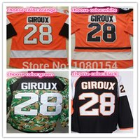 anti china shirts - Factory Outlet Hot Mens Philadelphia Hockey Jerseys China Claude Giroux Jersey Orange Black Camo All Stitched Winter Series Shirts