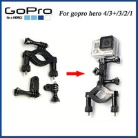 Wholesale New outdoor sports Motorbike Roll Bar Mount with Three way Adjustable Pivot Arm for Gopro Hero gopro hero Tripod Adapter