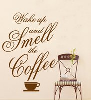 best coffee packaging - Best Quality New Wall Quote Vinyl Decal quot Wake up and smell the coffee quot for your home or cafe Art Home Decor x80cm GL6805