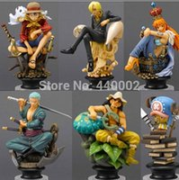 Wholesale 20set New Japanese Anime One Piece CHESS PIECE COLLECTION PVC Figure Set Icludes set For Christmas Gifts
