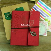 Wholesale 1509 DIY Inch Leather Vintage Antique Spiral Kraft Paper Photo Albums for Baby Scrapbooking Home Decor Free shiping