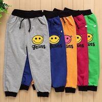 Wholesale The New Cute Fall Fashion Pants Face Cartoon Pattern Childrens Wear Cotton Pants Random Collocation C