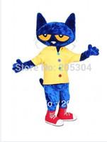 Wholesale Pete the Cat Mascot Costume Fancy Dress Halloween Costume factory direct