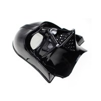 Wholesale 2 Colors Darth Vader Imperial Warrior Mask Halloween Costume Theater Props Black White Star Wars Cheap Novelty Plastic Party Masks WI84