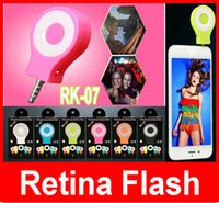 Wholesale RK Neight Using Selfie Enhancing Flash Light Smart phones Autodyne Flash LED flash compatible with IOS and Android