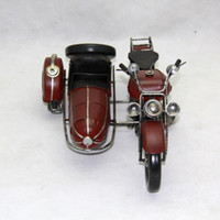 big kid tricycle - Tinplate Military Motorcycle Model Hand made Motor Tricycle Toy Furniture Decoration Work of Art Personalized for Gift Collecting