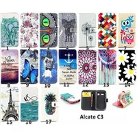 scratch card - Cartoon Cell Phone Cases for Alcate C3 C5 C7 Mobile Phone Case with kikstand Scratch resistant Lovely Design Hot Sale