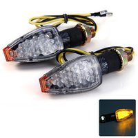 Wholesale Hot salling LEDs Amber Light Motorcycle Arrow Shaped Turn Signal Light Bulb Blinker V