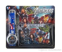 avengers watches - The Avengers Batman Quartz Watches and Wallet new Children Avengers Age of Ultron Watches and Wallet B001