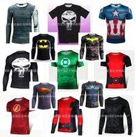 under-armour - Schwarzenegger COSPLAY Power Men boy shirts Marvel Superhero Punisher tees Compression Armour Sport Fitness Gym T shirt Tights Under Tee