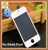 replacement touch screen panel - AAA Top Quality For iPhone G S LCD Touch Screen Display Digitizer Replacement Glass Panel With Frame Assembly No dead pixel
