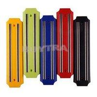 Wholesale New Kitchen Utensil Plastic Knife Holder Wall Mount Magnetic Knife Rack Strip Random Color Knife Blocks ZT
