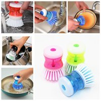 best toilet brushes - New Arrival Best Promotion Kitchen Wash Tool Pot Pan Dish Bowl For Palm Brush Scrubber Cleaning Cleaner Plastic For Cleaning