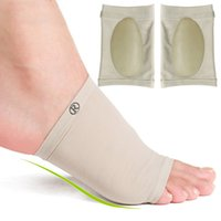 foot massager - 2015 Professional Elastic Bandage Silicone Gel Arch Support Orthopedic Massager Shoe Inserts Foot Cover arch pads