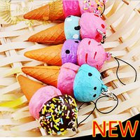 Wholesale cm simulation ice cream cupcake s squishy phone charm Squishies Cell Phone Straps party gift mix color order