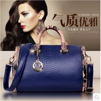 Wholesale 2015 New Women Handbag cheap Genuine Leather Bags snakeskin Leather Handbags Shoulder Bags Classic Bag Cowhide Bolsas Totes