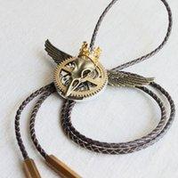 Wholesale Fashion Skull Bolo Tie Leather Cord Vintage Neck Tie Steampunk Watch Movement Goth Accessories