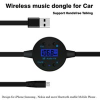 Wholesale 2015 Bluetooth Car Audio FM transmitter wireless music dongle For Car Support Hands free Talking BF