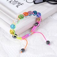 beaded jewelry - 2015 New jewelry shambala bracelets Macrame disco ball pave beads crystal bracelets jewelry armband Shb009 cheap china fashion jewelry