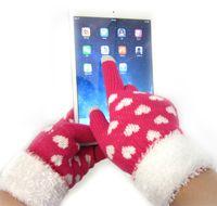 Wholesale 2014 The New Fashion Thicken iglove Ladies Gloves Winter Autumn Warm Outdoors Luvas Touch Screen Fitness Gloves