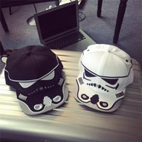 Wholesale Fashionable Star Wars snapback baseball caps Prettybaby Darth Vader Stormtrooper ball cap hats christmas gift short caps