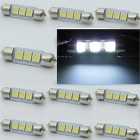 Wholesale 50pcs White MM LED SMD SMT LED Bulbs Festoon Dome Car Light Interior Lamp Bulb V New