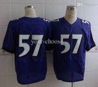 Cheap BAL #57 Jersey 2014 New Elite American Football Jersey Purple Mens American Football Jerseys Stitched Authentic On Field Jersey