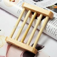 Cheap Bathroom Accessories Wood Soap Dish Box Sponge Tray Holder for Women Men Novelty Items Household