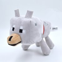 stuffed animals - Minecraft Wolf Plush Doll Toys Minecraft Wolf cm Cotton Stuffed Animals with Tag Bat Skeleton Zombie GREAT COLLECTION Christmas Gifts