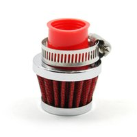 auto air filter systems - New Universal Car Air Filters MM Clamp On Round Tapered Auto Cold Air Intake Mini Filters Red Air Filters Systems order lt no track