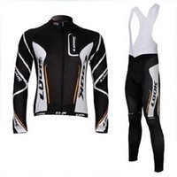 Wholesale men s black LOOK Winter Cycling Jersey set Thermal Fleece clothing long sleeve jersey bike bicycle riding cycling jerseys bibs pants