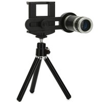 Wholesale 5pcs Universial Mobile Phone Telescope X Zoom Optical Lens Camera Telephoto Black Color For iphone s s plus Samsung S6