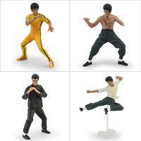 bandai wholesale - 1set PVC Bandai Bruce Lee Figures Kung Fu Master Legend Action Figure toy Dolls For Gifts
