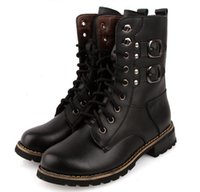 imported fabric - Winter Round head flat warm leather boots thick crust Martin boots import PU Men s single shoes