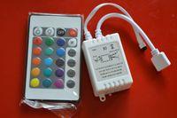 beige rgb - DC12v led strip led rgb controller reomte24 key led IR controller for RGB led flexible strip light