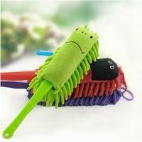 Cheap Long handle lanyard (green) dusting brush cartoon pattern chenille cleaning brush