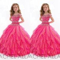short pageant dresses for girls - 2016 Flower Girls Pageant Dresses Cute Jewel Cap Sleeves Shinning Beading Bodice Soft Tulle Custom Made Ball Gowns for Little Girls