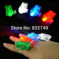 Wholesale Multi color Bright LED Finger Ring Light Lamp Beams Torch For Party KTV Bar gift order lt no track