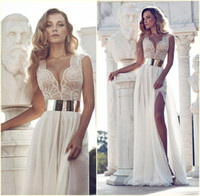 Cheap Reference Images Julie Vino Prom Dresses Best V-Neck Chiffon crystal prom gowns
