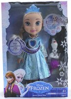 Wholesale in stock free FROZEN ELSA SNOW GLOW DOLL PRINCESS ACTUAL PICTURE MUSICAL SINGING TALKING LET IT GO with LED light hql