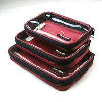 Wholesale TRAVELICONS transparent storage box three piece travel package sorting debris wash bag travel bag