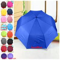 Wholesale New Arrivals Windproof Mini Compact Folding Handbag Umbrella Household Sundries Beauty Colors CX41