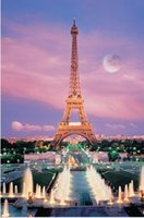 Wholesale Paris Eiffel Tower Pieces Glow In The Dark Jigsaw Puzzle x38cm Home Art Decoration Luminous Puzzle