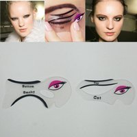 Wholesale set sexy Cat Eye Stencils Makeup Stencil Eyeline Models Template Eyeliner Card Auxiliary hot girl Smoky eyeliner tool