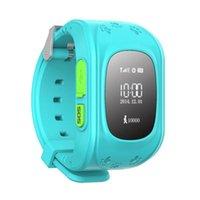 gps kids tracker watch - 2015 Mini GPS Tracker Watch For Kids SOS Emergency Anti Lost Smart Mobile Phone App Bracelet Wristband Two Way Communication