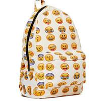 backpack custom design - Custom Design Print Logo New Boys Girls Smiley Face Fangirl Emoji Backpack Funny School bag Shoulders Bag school bags for teenage girls