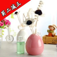 Wholesale no fire aromatherapy oil suits ceramic incense sandalwood incense rattan indoor smoking room perfume fragrance