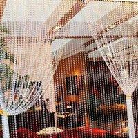 Wholesale Garland Diamond Strand Iridescent Acrylic Crystal Bead Wedding Party Decor Curtain order lt no track
