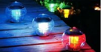 Wholesale New Solar Garden Light Color Changing Water Floating Waterproof LED Pool Light Garden Path Lamp Retail